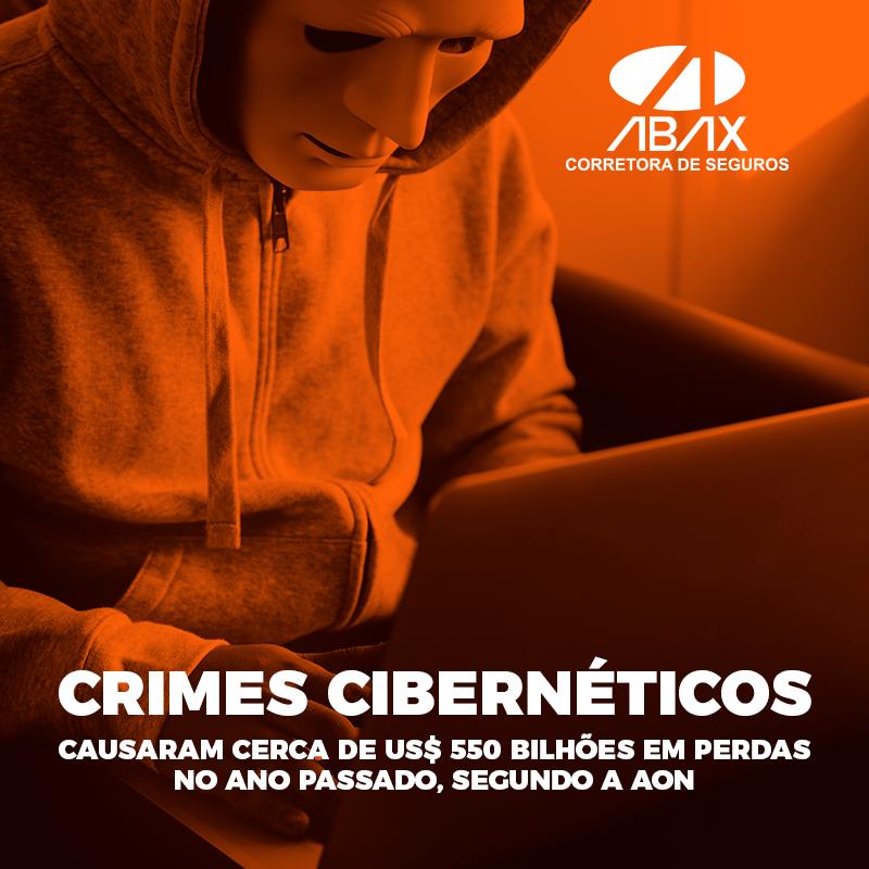 Crimes cibernéticos causaram cerca de US$ 550 bilhões em perdas no ano passado, segundo a AON